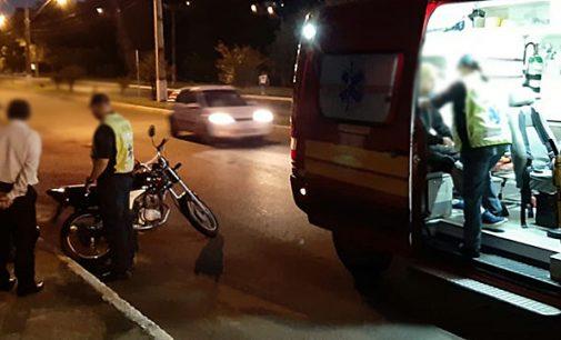 Acidente envolve carro e moto em Porto União