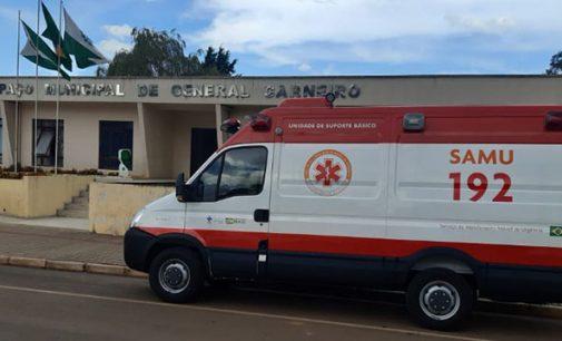 General Carneiro recebe ambulância do SAMU Regional