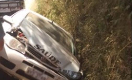 Veículo da Saúde de Cruz Machado se envolve em acidente