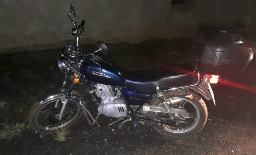 Porto União: Policiais recuperam moto furtada