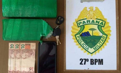 PM de União da Vitória apreende drogas no bairro São Sebastião
