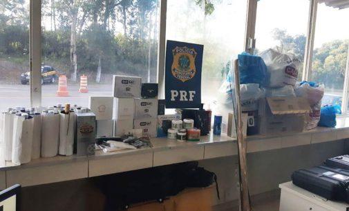 Porto Vitória: PRF aborda veículo com produtos do Paraguai