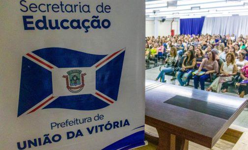 Educação de União da Vitória realiza Semana Pedagógica