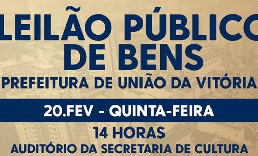 Prefeitura de União da Vitória realiza leilão de bens públicos