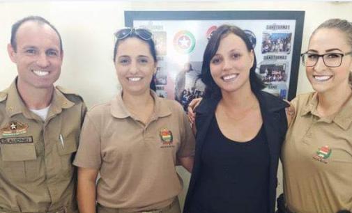 Policiais de P.U firmam parceria com Instituto Rosas do Contestado