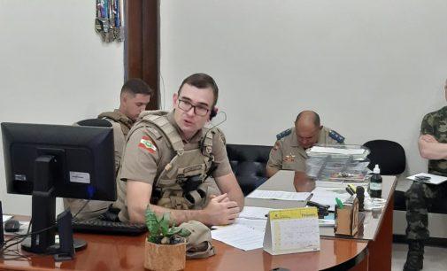 Comando da PM discute implementação do decreto de situação de emergência