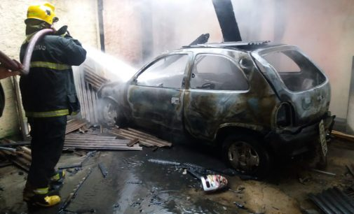 Porto União: Bombeiros atendem incêndio em veículo