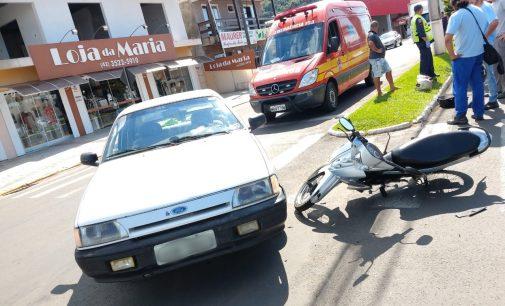 Acidente de trânsito em Porto União deixa um condutor ferido