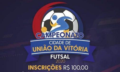 Campeonato de Futsal Cidade de União da Vitória: Inscrições abertas