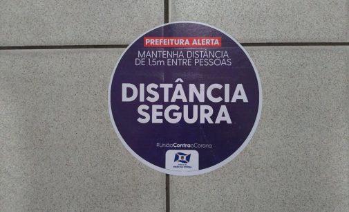 Comércio: Prefeitura de União da Vitória distribui adesivos com orientações de prevenção