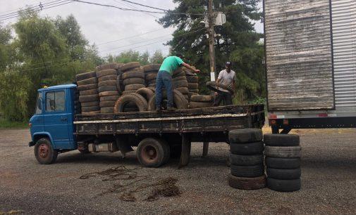 Mais de 2 mil pneus em desuso são coletados em União da Vitória