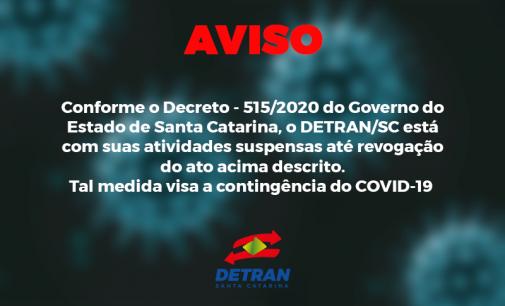 Coronavírus: Detran – Santa Catarina anuncia redução de serviços