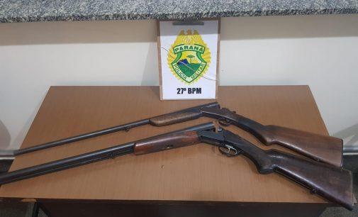 União da Vitória: Três pessoas são detidas por porte ilegal de arma de fogo