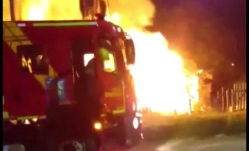 União da Vitória: Incêndio destrói residência no distrito de São Cristóvão