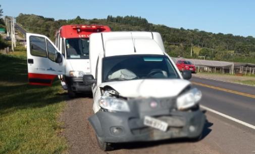 Acidente na BR 280 deixa uma pessoa ferida em Irineópolis