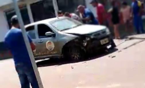 General Carneiro: Acidente de trânsito envolve veículo da Saúde do município