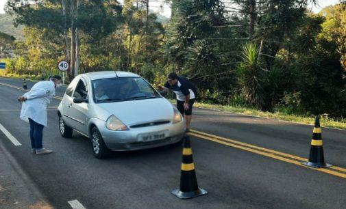 Coronavírus: Cruz Machado realiza barreira sanitária nas vias de acesso ao município