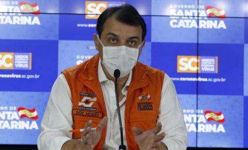 Governo de Santa Catarina decreta mais cinco dias de isolamento social