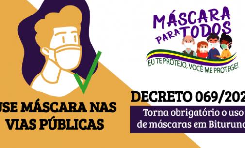 Prefeito de Bituruna anuncia multa a quem não cumprir decreto de uso de máscara