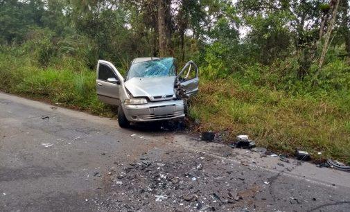 Condutor de veículo com placas de Porto União se envolve em grave acidente na SC 418