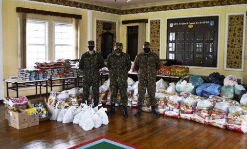 Campanha solidária: 5º Batalhão de Porto União arrecada 1.712 kg de alimentos