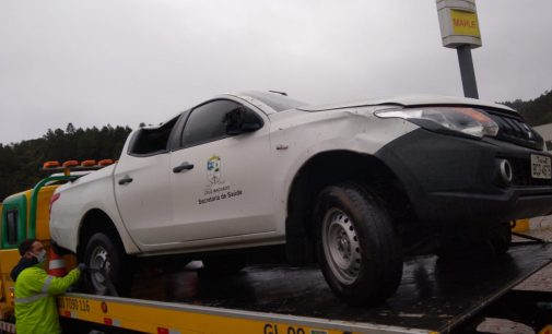 Veículo da Saúde de Cruz Machado se envolve em acidente de trânsito em SP