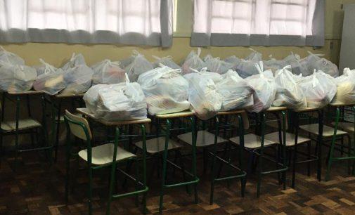Bituruna realiza entrega da merenda escolar para alunos da Escola Bento Gonçalves do Bolsa Família